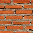 Red textured brick wall — Stock Photo