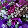 Wonderful violet wedding bouquet — Stock Photo