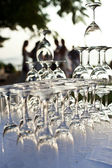 Champagne glass pyramid — Stock fotografie