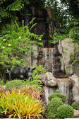 Artificial waterfall in Thailand. Khao Keo zoo — Foto Stock