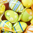 Colorful easter eggs close up — Foto Stock