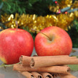 Royalty-Free Stock Photo: Cinnamon and apples
