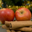 Cinnamon and apples — Stock Photo #19305257