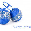 Collection of blue decorations for the Christmas tree — Stock Photo #19305589