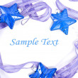 Collection of blue decorations for the Christmas tree — Stock Photo #19305733