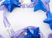 Collection of blue decorations — Stock Photo