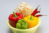 Vegetable in basket — Stock Photo