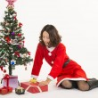 Christmas girl and gift — Stock Photo #15550847