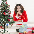 Christmas girl and gift — Stock Photo #15550999