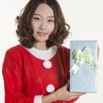 Christmas girl and gift — Stock Photo #15595289
