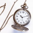 Pocket watch on white background — Stock Photo