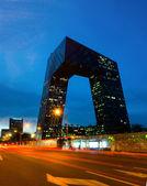 CCTV headquarter at night,Beijing,China — Stock Photo