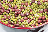 Mixed beans in bowl — Stock Photo