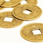antyczny brązowy chiński monet — Zdjęcie stockowe
