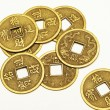 Antique bronze Chinese coins — Stockfoto #32654193