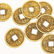 Antique bronze Chinese coins — Stock Photo #32654473