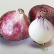 Stock Photo: Fresh onion on white background