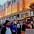 People roam Wangfujing Walking Street at dusk,Beijing,China — Stock video #33356059