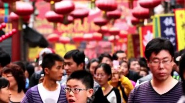 The visitors go out Wangfujing Snack Street,Beijing,China — Stock Video