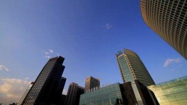Landskapet i finansiella street i peking, kina — Stockvideo