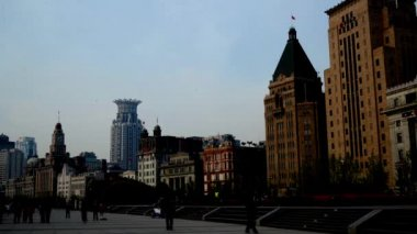 Old-fashion architecture in Shanghai Bund,China — Stock Video