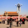 The visitors on the Tian'anmen Square,Beijing,China — Stock Video