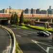 The Second Ring Road traffic in Beijing,China — Stock Video