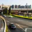 Stock Video: Second Ring Road traffic in Beijing,China