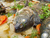 The baked fish — Stock Photo