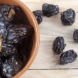 The stuffed prunes on a plate — Stock Photo