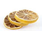 Three segments of a lemon — Stock Photo