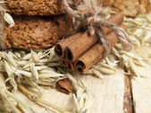 Cinnamon on a table — Stock Photo