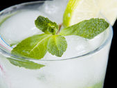 Refreshing cocktail with a mint — Stock Photo