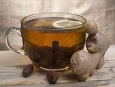 Chá e gengibre — Foto Stock