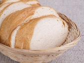 O pão na mesa — Fotografia Stock