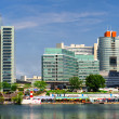 Panoramic view to the Donau City in summertime. Vienna, Austria - Stock Photo