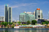 Panoramic view to the Donau City in summertime. Vienna, Austria — Stock Photo