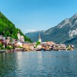 vue de hallstatt. village en Autriche — Photo #12423962