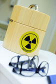 Container for the radioactive isotopes — Stock Photo