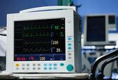 Anesthesia monitor description close-up — Stock Photo