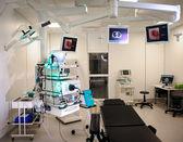 Hospital room with autofluorescence bronchoscopy equipment — Stock Photo