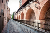 Ancient fortification wall. Old Riga,Latvia — Stock Photo