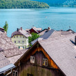 View of Hallstatt. Alpine village in Austria - Stock Photo