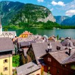View of Hallstatt. Alpine village in Austria — Stok fotoğraf