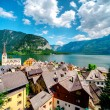 vue de hallstatt. village des Alpes en Autriche — Photo