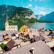 vue de hallstatt. village des Alpes en Autriche — Photo #16350455