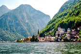 View of Hallstatt. Alpine village in Austria — Stock Photo