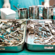 Surgical tools closeup — Stock Photo