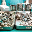 Stock Photo: Surgical tools closeup