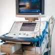 Medical ultrasonography machine at hospital - Stock Photo